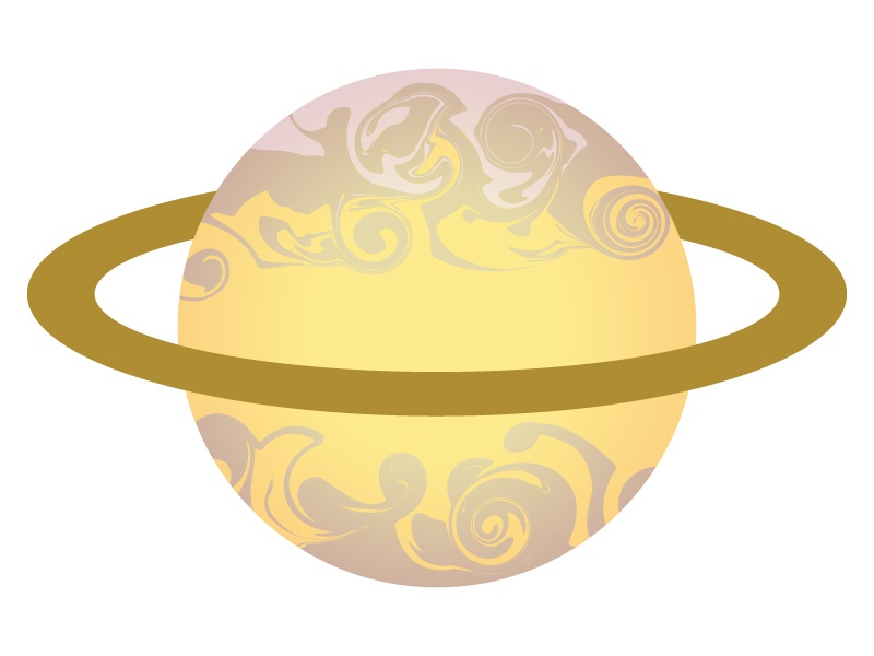 Saturn galaxy universe astronomy icons marbled celestial planets space