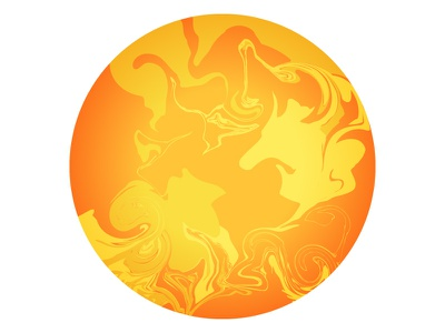 Sun galaxy universe astronomy icons marbled celestial planets space