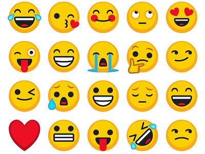 Emojis apps messages smileys social media vector emoticons emojis