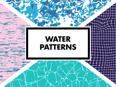 Semless Water Patterns reflection pool swimming river ocean ripple vector seamless pattern water