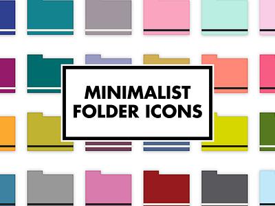 Minimalist Folder Icons colorful color coding simple minimal scandinavian design desktop icons folder minimalist