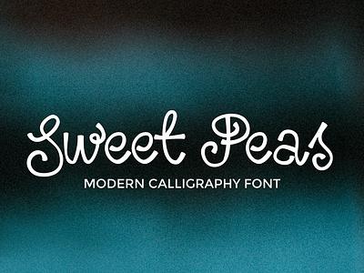 Sweet Peas Modern Calligraphy Font bohemian modern script calligraphy font
