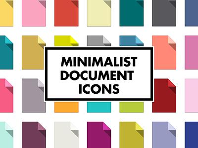Minimalist Document Icons colorful color coding simple minimal scandinavian design desktop icons document folder minimalist