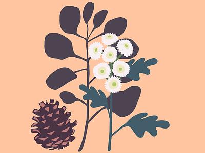 November Calendar illustration design calendar winter garden botanical floral