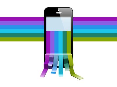 iPhone Rainbow Illustration