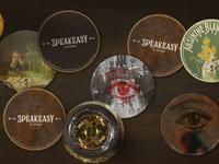 Speakeasy Bar Coasters