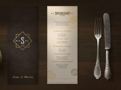 Speakeasy Menu design