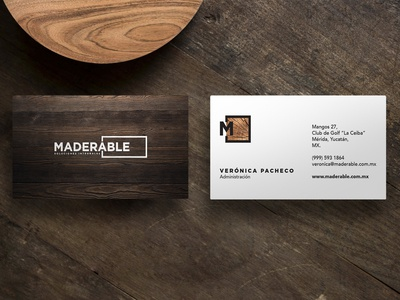 Maderable Business Cards