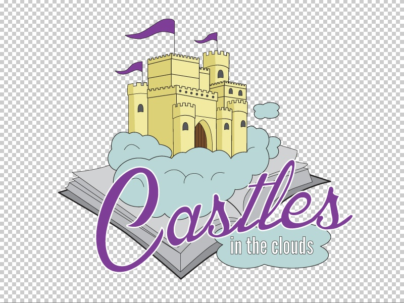 Castles In The Clouds Logo shane rielly lonely viking logo vector castle clouds fairytale storytelling story book