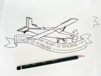 Plane Sketch (Ribbon & Text Added)