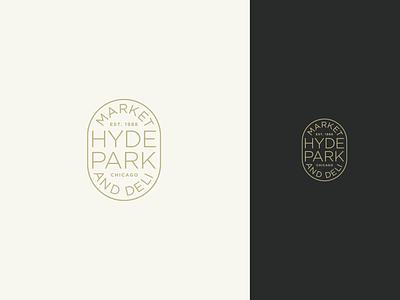 Hyde Park Market & Deli vector flat logo minimal branding design
