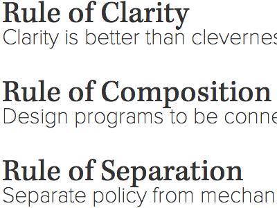 Unix Philosophy Type Scheme (second try) kepler proxima nova