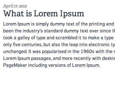 Blog Typography adelle dagny