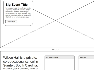 Wireframes wireframe redesign education