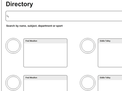 Wireframes - Directory wireframe redesign education directory search