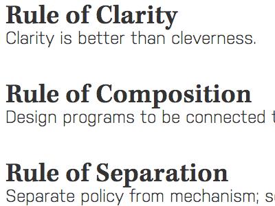 Unix Philosophy Type Scheme
