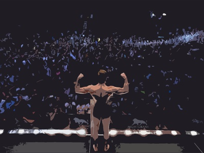 The Notorious champion notorious mma fight ufc crowd people shapes sketching photoshop mcgregor conor conor mcgregor design illustration