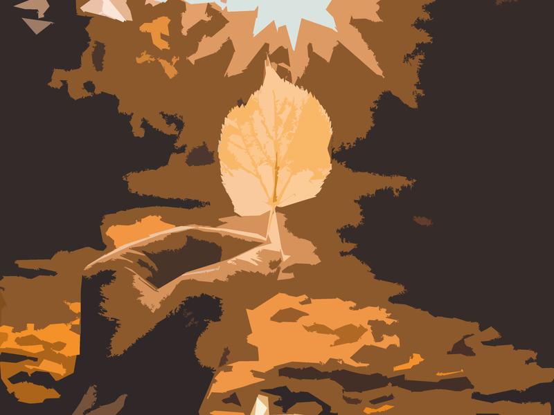 Autumn outdoors nature leaf fall autumn shapes sketching photoshop illustration design