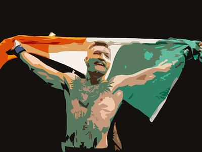 Irish Dragon tricolor irish ireland mma ufc fight champion conor mcgregor mcgregor conor shapes sketching photoshop illustration design