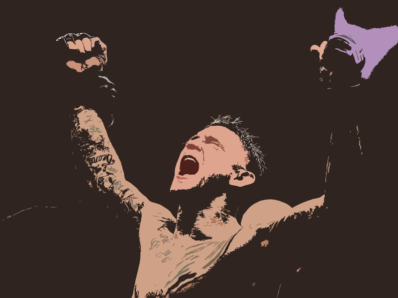 Paid in Full emotional happy tears sweat victory win dustin poirier poirier dustin blood ufc mma fight champion sketching shapes photoshop illustration design