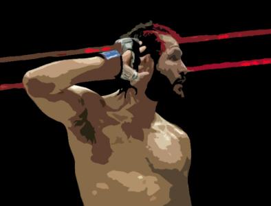"The BMF - Jorge ""Gamebred"" Masvidal bmf street fighter cuban cuba florida miami jorge masvidal masvidal jorge blood ufc mma fight champion sketching shapes photoshop illustration design"