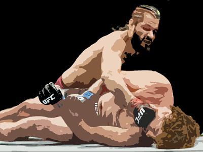 Super Necessary - Jorge Masvidal punch knee askren knockout cuban cuba florida miami masvidal jorge blood ufc mma fight champion sketching shapes photoshop illustration design