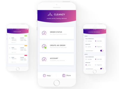 Cleanzy Laundry App