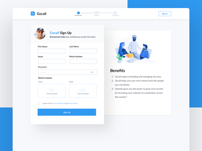 Signup - Onboarding web application multi step signup sign up onboarding onboard simple clean