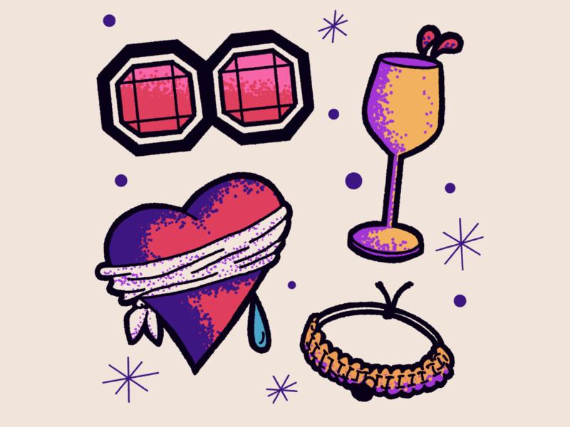 Love is Blind - sticker set 1