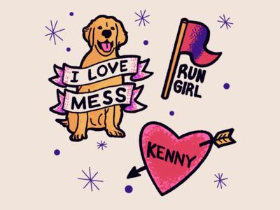 Love is Blind - sticker set 2