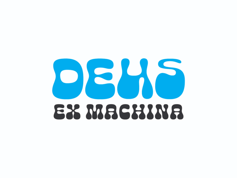 Deus groovy wave logotype