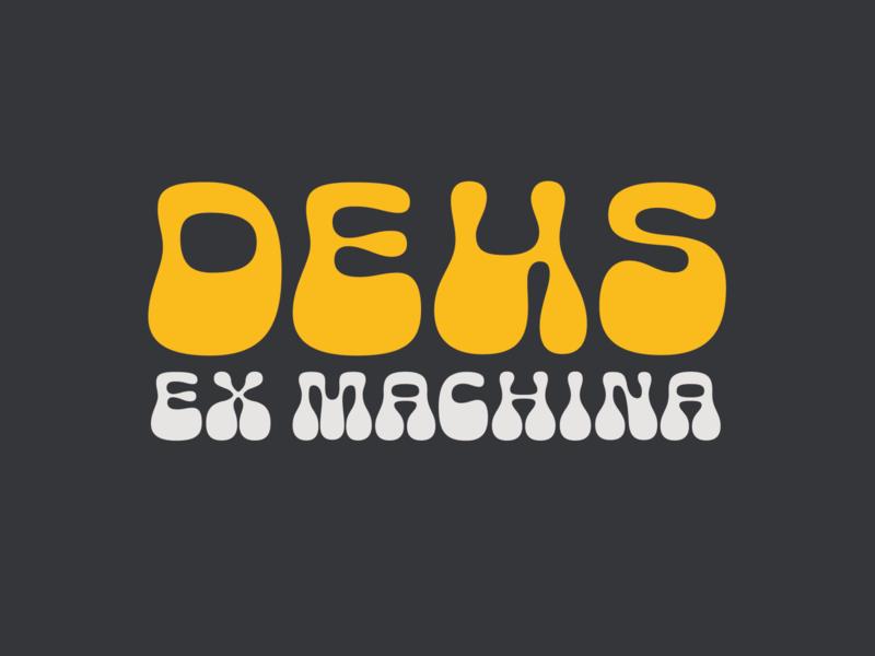 Deus groovy dark logotype