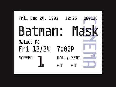 Gothamono ticket typography pixel font pixel type pixel