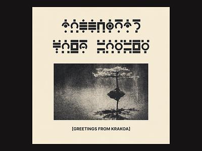 Greetings from Krakoa letters alphabets symbols alphabet photo textures print halftone typography