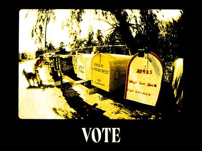 vote 2020 - 1 vote halftone experiment typography texture