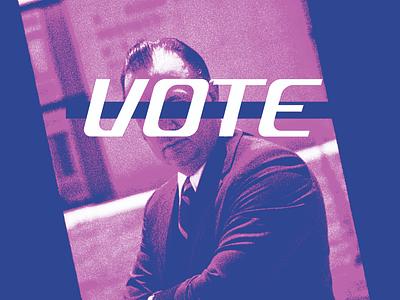 vote 2020 - 2 vote photo halftone experiment typography texture