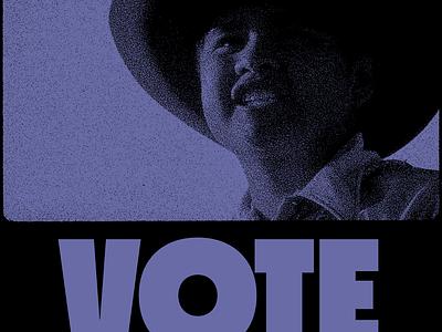 Cowboy Blue Vote vote experiment halftone texture