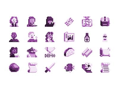 Hot Dog Quest pixel art illustration video game retro fantasy game boy monochrome pixel art pixel pixelart