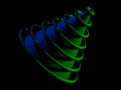 space cone spline 3d art 3d experiment