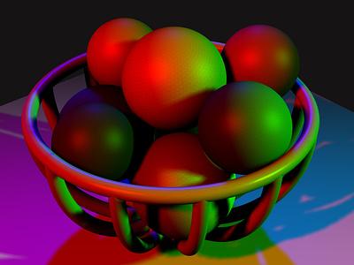 ball bowl experiment lighting 3d art 3d