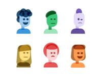 Multiplied Colorful Folks