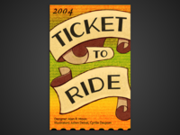 Board Game Poster Series – #3 Ticket to Ride