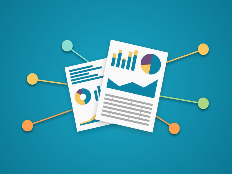 Share Dashboards connections network data visualization email sharing dashboard icon illustration