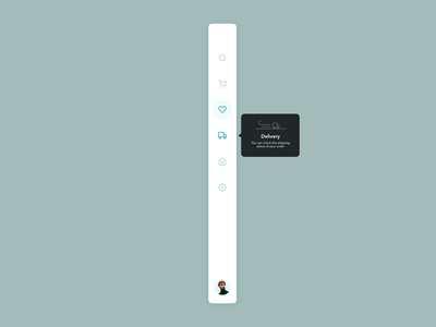 DailyUI 087 | Tooltip ux ui menu navigation tooltip