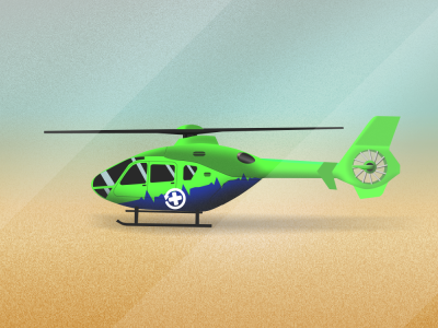 GWAAC EC135 Side View illustration ec135 ambulance air western great helicopter