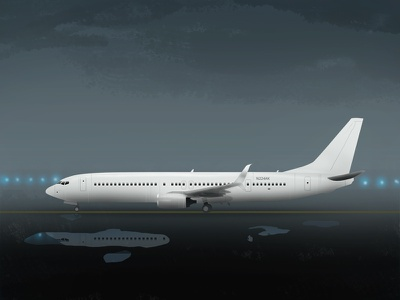Boeing 737-900 aircraft boeing plane rain airport jet airliner airplane aircraft 737