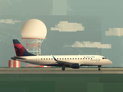 Embraer 170 Aircraft radar delta jet airport embraer airplane plane aircraft