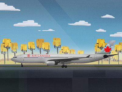 Airbus A330-300 Aircraft trees fall air canada jet airport airbus airplane plane aircraft