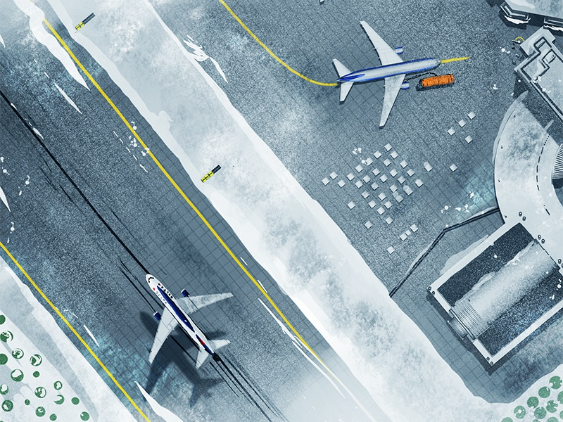 Snowy Airport tarmac terminal runway 767 winter jet airport boeing airplane plane aircraft
