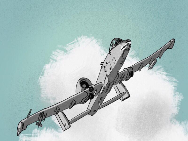 A-10 Thunderbolt II usaf airplane aircraft warthog a-10 jet